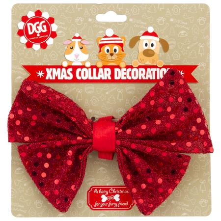 DGG Christmas Neck Decoration Bow Tie - Small to Medium