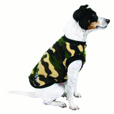 DGG Green Camo Warmie Fleece Dog Jumper Green Medium (37cm)