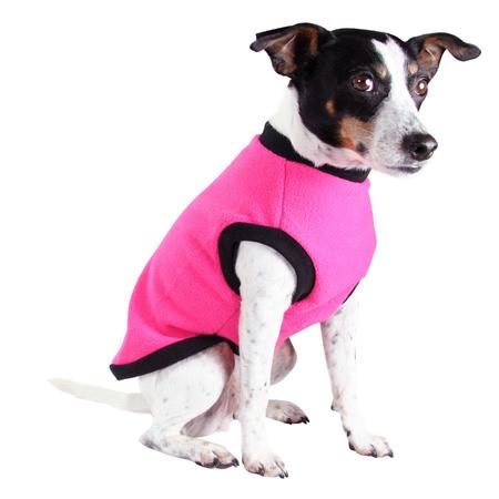 DGG Hot Pink Warmie - Fleece Dog Jumper XL