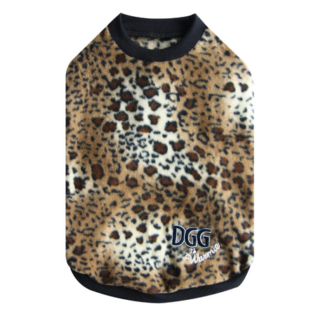DGG Leopard Warmie - Fleece Dog Jumper Medium (37cm)