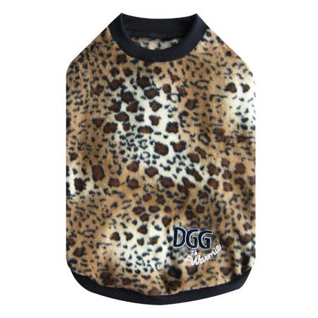 DGG Leopard Warmie - Fleece Dog Jumper XS