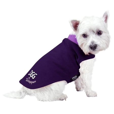 DGG Purple Corduroy with Violet Lining Wrapper Dog Jumper Purple X Small (20cm)