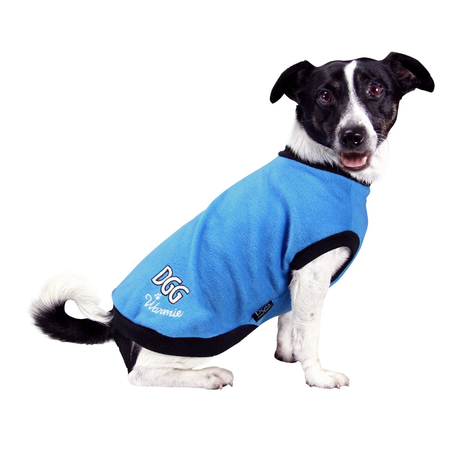 DGG Warmie Fleece Dog Jumper Blue Medium (37cm)