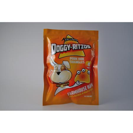 DOGGY-RITZOS Porkhide Triangles - Farmhouse Ham