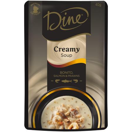 Dine Creamy Soup Bonito, Salmon & Prawns - 40gm