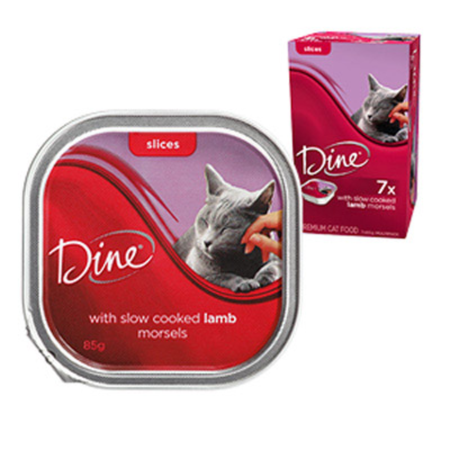 Dine Daily Variety Lamb Cuts in Gravy Cat Food Tray  1x85g