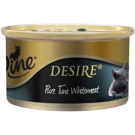 Dine Desire Pure Tuna Whitemeat Canned Cat Food  1x85g