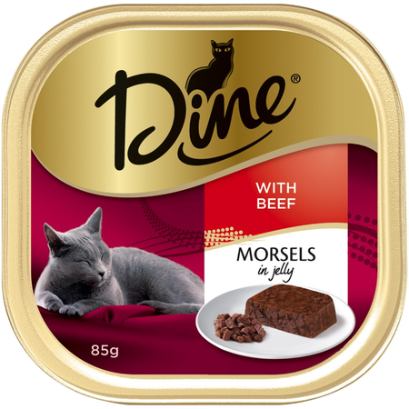 Dine Jelly Morsels with Beef 85g