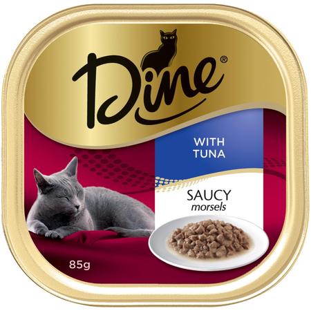 Dine Saucy Morsels & Tuna 85g
