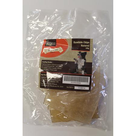 Dog n Bone Natural Rawhide Chips Dog Treat  100gm