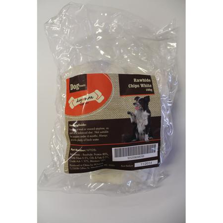 Dog n Bone - White Rawhide Chips - Dog Treat