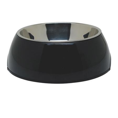 Dogit 2 in 1 Durable Dog Bowl Black 700ml