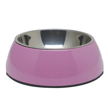 Dogit 2 in 1 Durable Dog Bowl Pink 1.6L