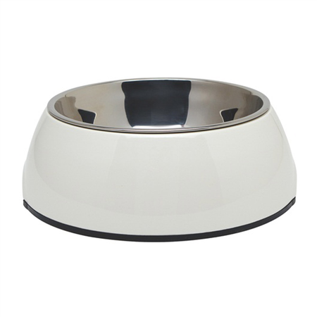 Dogit 2 in 1 Durable Dog Bowl White 350ml