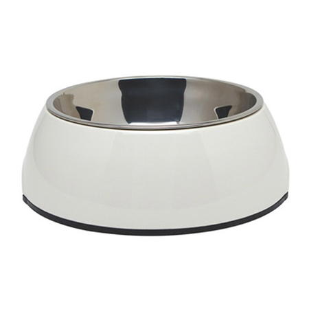 Dogit 2 in 1 Durable Dog Bowl White 700ml