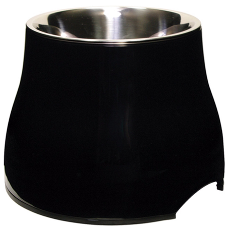 Dogit 2 in 1 Elevated Durable Dog Bowl Black 900ml