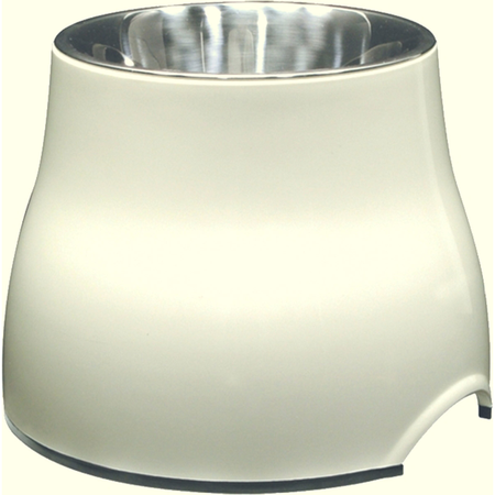 Dogit 2 in 1 Elevated Durable Dog Bowl White 300ml