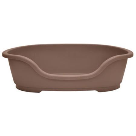 Domus Basket Style Plastic Dog Bed Chocolate 50cm