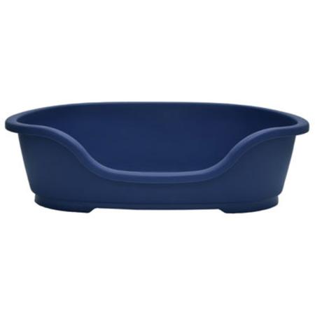 Domus Basket Style Plastic Dog Bed Blue 50cm