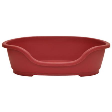 Domus Basket Style Plastic Dog Bed Red 50cm