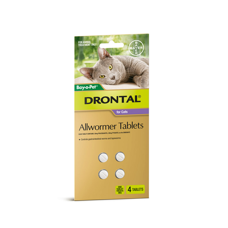 Drontal Cat Worming Tablets - 4 pack