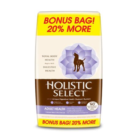 Holistic Select Chicken and Rice Dry Dog Food 16.3kg Bonus Bag