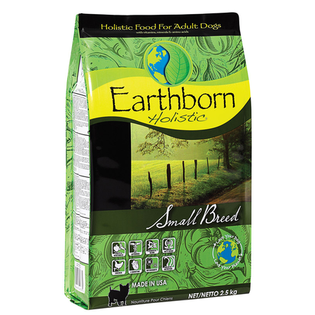 Earthborn Holistic Adult Small Breed Chicken and Fish Meal Dry Dog Food  2.5kg