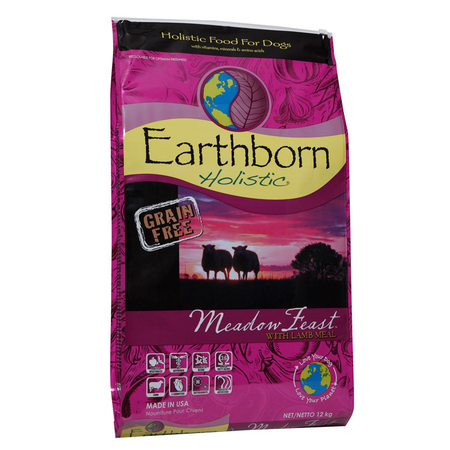 Earthborn Holistic Meadow Feast Grain Free Lamb Dry Dog Food  12kg
