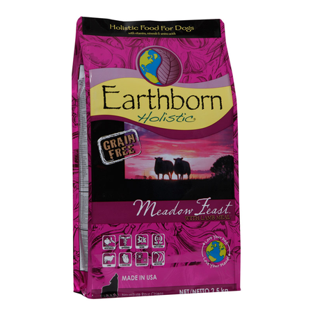 Earthborn Holistic Meadow Feast Grain Free Lamb Dry Dog Food  2.5kg