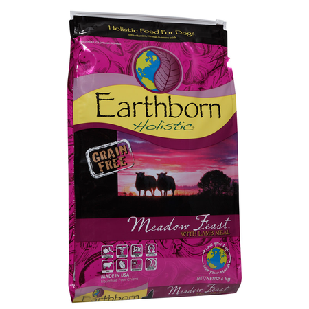 Earthborn Holistic Meadow Feast Grain Free Lamb Dry Dog Food  6kg