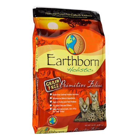 Earthborn Holistic Primitive Feline Grain Free Dry Cat Food  6.3kg