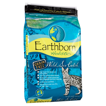 Earthborn Holistic Wild Sea Catch Grain Free Fish Dry Cat Food  6.3kg