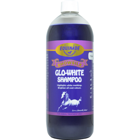 Equinade Showsilk Glo White Shampoo for Horses  1L