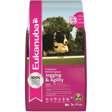 Eukanuba Dog Adult Jogging & Agility - 3kg