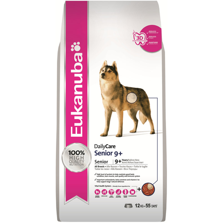 Eukanuba Senior Daily Care 9+ Dry Dog Food  12kg
