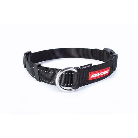 EzyDog Checkmate Nylon Correction Dog Collar Black Medium (34-45cm)