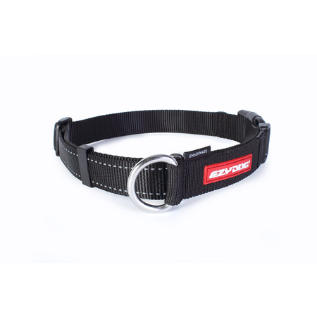 EzyDog Checkmate Nylon Correction Dog Collar Black Small (26-24cm)