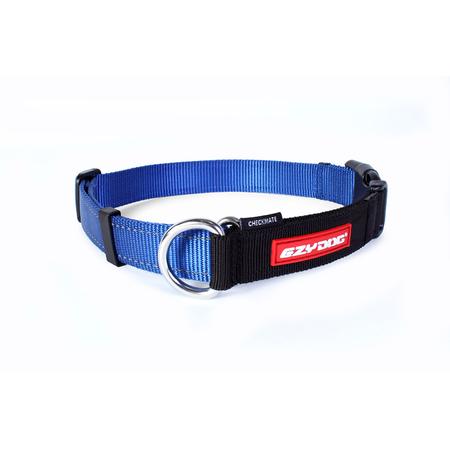 EzyDog Checkmate Nylon Correction Dog Collar Blue Large (44-65cm)