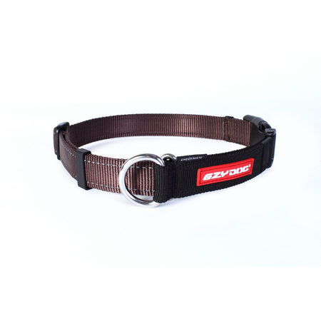 EzyDog Checkmate Nylon Correction Dog Collar Brown Medium (34-45cm)