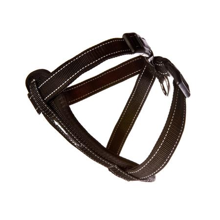 EzyDog Chest Plate Dog Harness with Car Seatbelt Attachment Black Medium (45-73cm Girth)