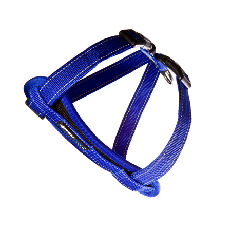 EzyDog Chest Plate Dog Harness with Car Seatbelt Attachment Blue Large (49-84cm Girth)