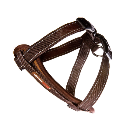 EzyDog Chest Plate Dog Harness with Car Seatbelt Attachment Brown Large (49-84cm Girth)