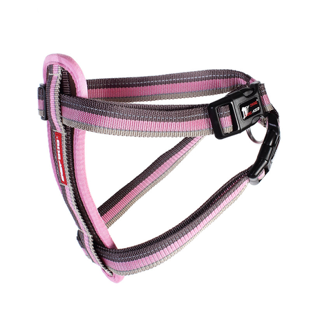 EzyDog Chest Plate Dog Harness with Car Seatbelt Attachment Pink Large (49-84cm Girth)