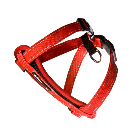 EzyDog Chest Plate Dog Harness with Car Seatbelt Attachment Red Large (49-84cm Girth)