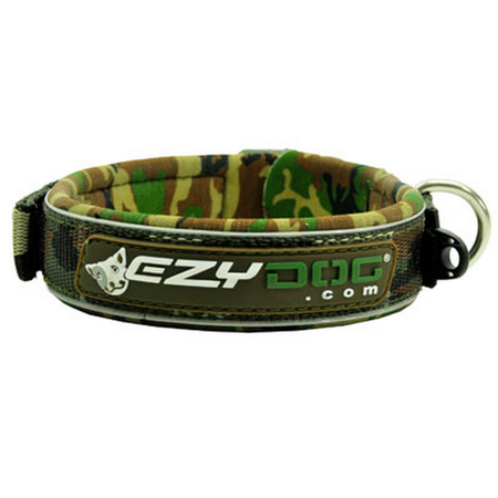 EzyDog Classic Camouflage Neoprene Dog Collar Green Small (34-38cm)