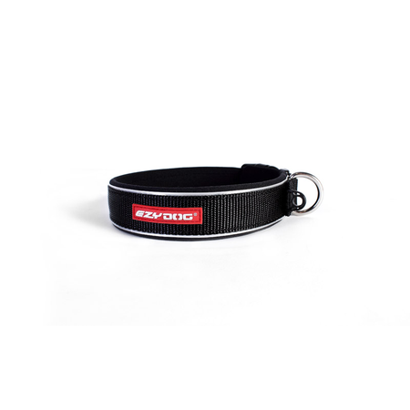 EzyDog Classic Neoprene Dog Collar Black Large (45-51cm)