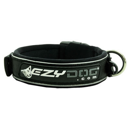 EzyDog Classic Neoprene Dog Collar Black Small (34-38cm)