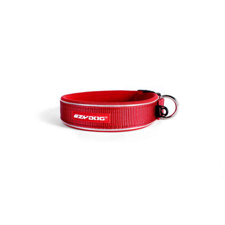 EzyDog Classic Neoprene Dog Collar Red X Large (52-61cm)