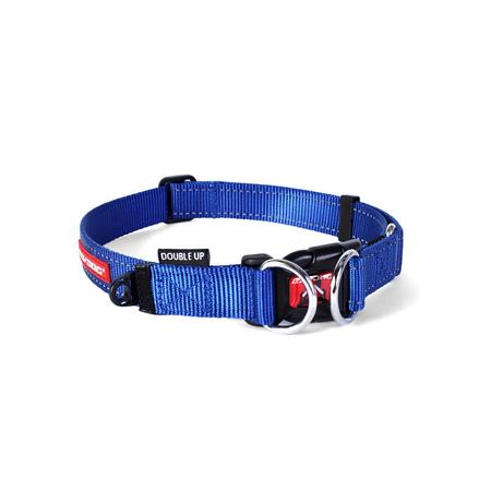 EzyDog Double Up Nylon Dog Collar Blue Large (44-65cm)