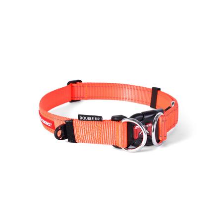EzyDog Double Up Nylon Dog Collar Orange Large (44-65cm)